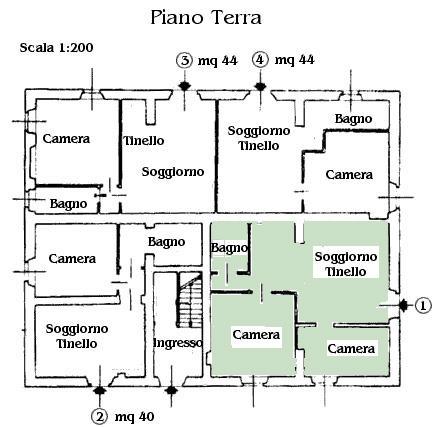 Appartamento 1 agriturimso allumiere agriturismo maremma for Planimetria appartamento