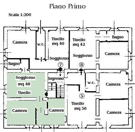 Appartamenti campiglia marittima agriturismo maremma for Planimetria appartamento